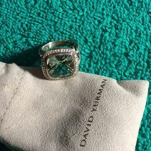 Authentic David Yurman 14mm diamond ring size 8
