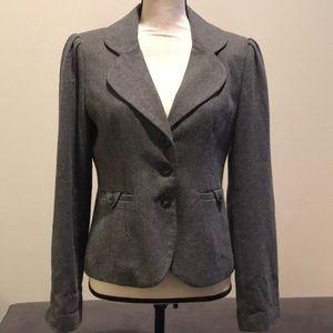 Mossimo wool like grey blazer with pleated sleeve