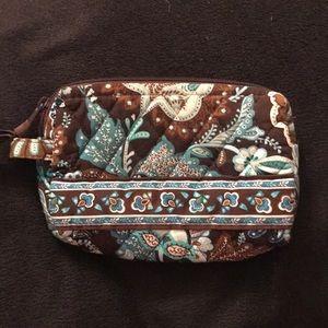 Vera Bradley Java Blue Makeup Bag