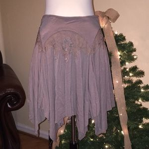 Free People Embroidered Skirt Small