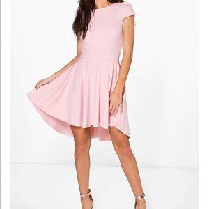 Boohoo Maisie Cap Sleeve Dip Hem Skater Dress SZ14