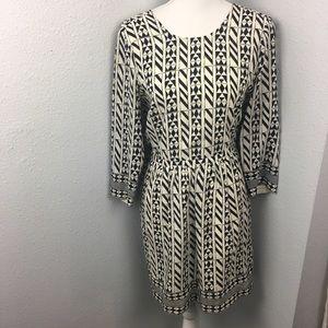 Madewell Geometric Print Silk Dress