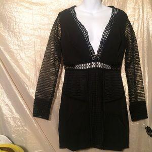 Nasty gal dress mesh panel