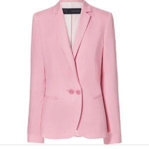 Zara pink linen blazer