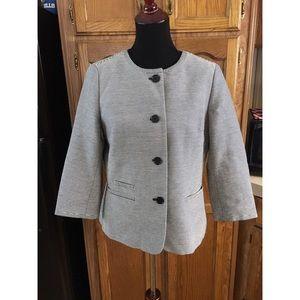 Talbots Striped Blazer Jacket Size 14