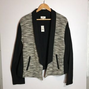 NWT! Lou& Grey open marled cardigan