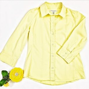 Banana Republic Fitted Yellow Button Down Shirt