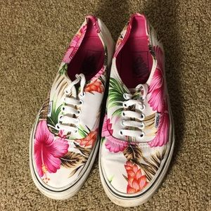 Tropical lace up Vans
