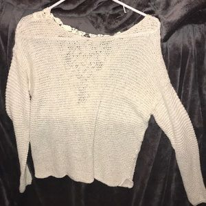Cream Sweater from Hollister.