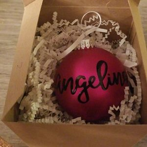 Angelina personalized ornament
