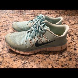 Tiffany blue Nike free run RARE