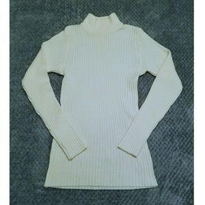 EUC Cream Turtleneck Sweater XS