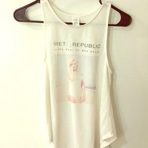 Marilyn Monroe Wet Republic Tank | Med