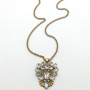 COMING12/18 J.Crew Crystal Flower Pendant Necklace