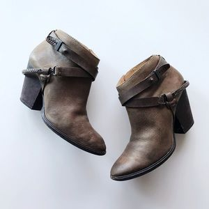Dolce Vita Brown Broken In Leather Ankle Boots