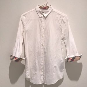 Burberry Button Up with Classic Detail - Size S