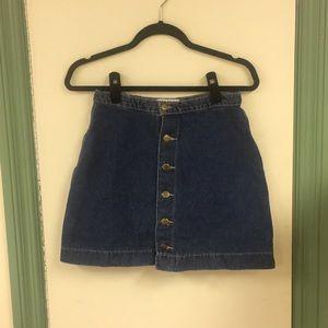 American Apparel Button Skirt