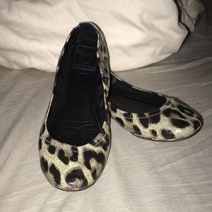 Tory Burch Leopard Print Flats