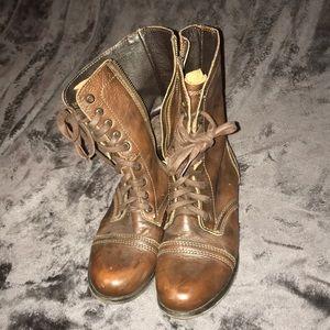 Steve Madden Combat Boots.