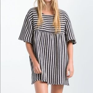 ZARA STRIPED KNIT TUNIC TOP DRESS