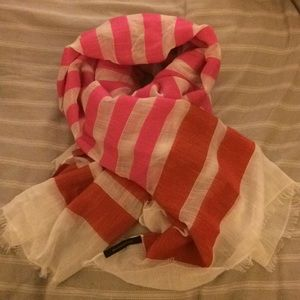 Banana Republic - pink & red stripe scarf - EUC