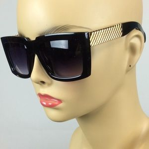 New Black and Gold Chunky Sunglasses
