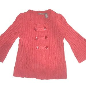 Red Bell sleeve sweater