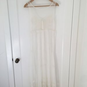 Vintage Sheer Tulle White Dress