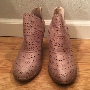Laser cut Taupe Booties