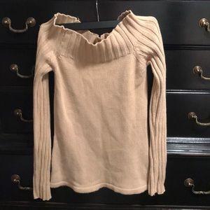 Tan cowl sweater