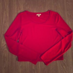 Tops - Red long sleeve top.