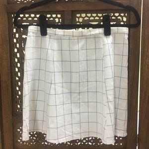 American Apparel Grid Skirt