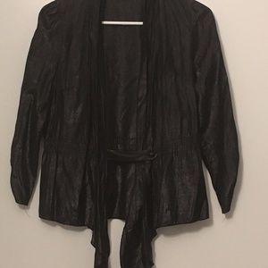 casual black blazer, (shiny) small