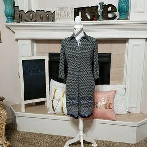 Max studio printed shirt dress size XS