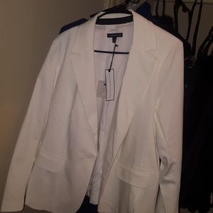 lane bryant white suit jacket