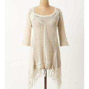 Angel Of The North Crochet Tassel Sweater Sz Small