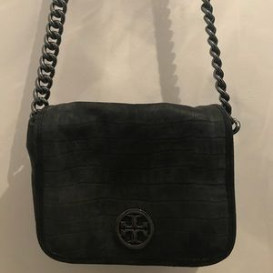 Tory Burch Croc Suede Cross Body Authentic