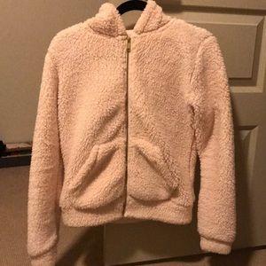 Puffy light pink jacket