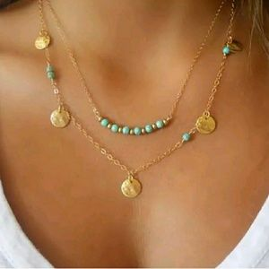Tourquish double-layer necklace