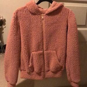 Blush pink fluffy jacket