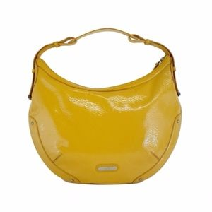 "Cole Haan Yellow Patent Leather ""Aerin"" Hobo Bag"