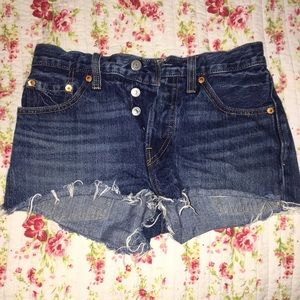 High waisted Levi 501 shorts