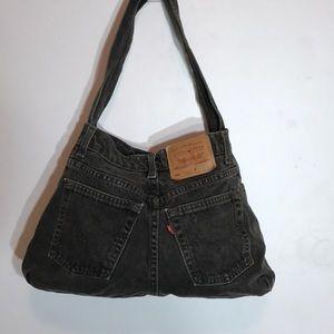 Black Levi's handmade shoulder bag