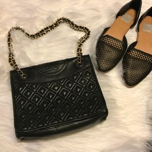 Tory Burch Fleming Quilted medium Flap bag