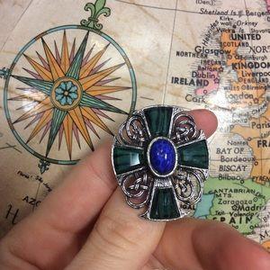 Celtic Knot Cross Brooch