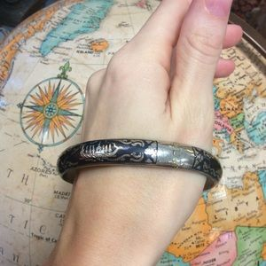 Vintage Jewelry - Siam Silver Thailand Boat Ships Bangle