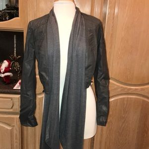 Crop jacket with scarf