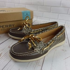 NEW Sperry boat shoe Top Sider Firefish Cheetah