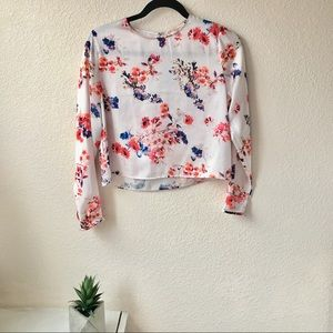Floral silky blouse from Philosophy