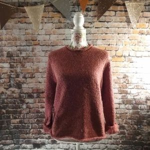 Vintage Speckled Rust Knit Sweater